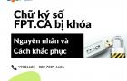 Chu ky so FPTCA bi khoa - Nguyen nhan va cach khac phuc